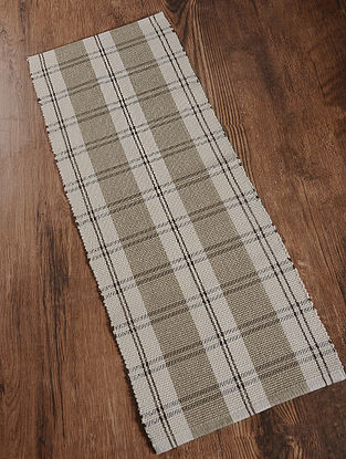 Brown Handwoven Cotton Corridor Dhurrie (1.6ft x 3.8ft)