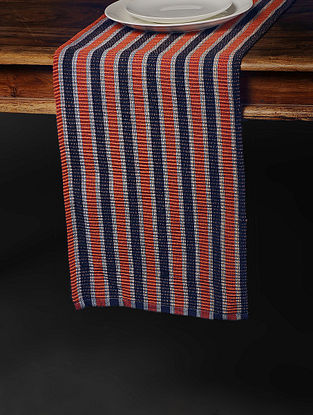 Red Handwoven Cotton Table Runner (72in x 12.5in)