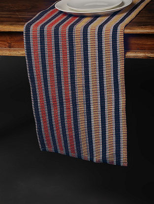 Multicolored Handwoven Cotton Table Runner (73in x 13in)