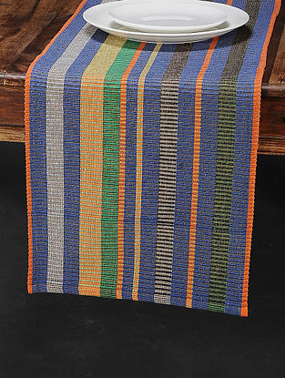 Orange Cotton Woven Table Runner (68in x 12.5in)