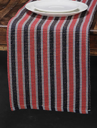 Red Cotton Woven Table Runner (72in x 12.5in)
