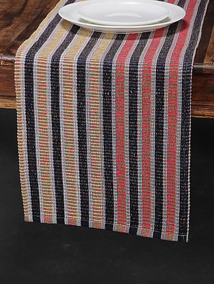 Yellow Cotton Woven Table Runner (72in x 12.5in)