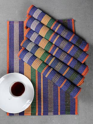 Orange Cotton Woven Table Mat (Set of 6)