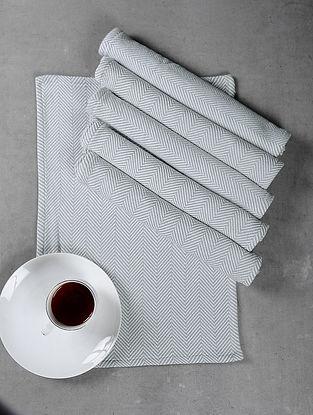 Beige Cotton Woven Table Mat (Set of 6)