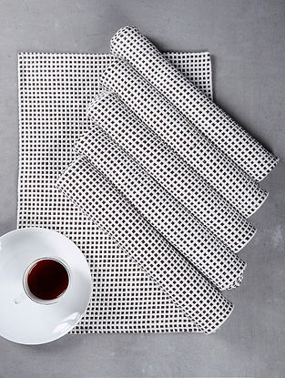 Brown Cotton Woven Table Mat (Set of 6)