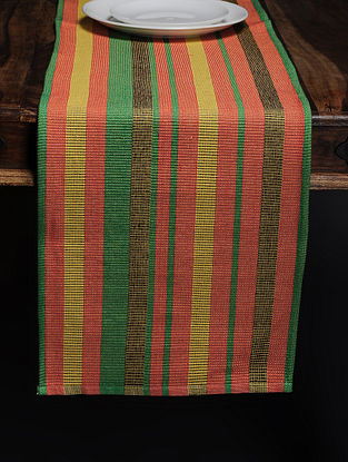Red Woven Cotton Table Runner (71in x 13.5in)