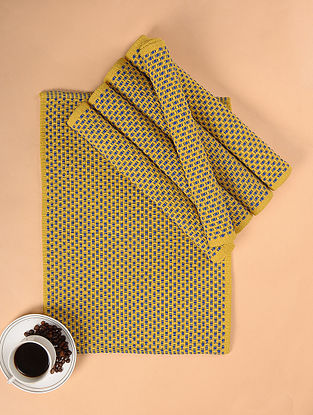 Yellow Woven Cotton Table Mats (Set of 6) (17.5in x 13in)