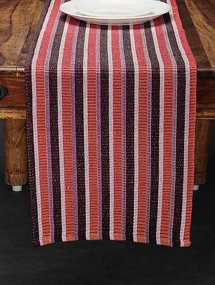 Orange Handwoven Cotton Table Runner (73in x 12.5in)