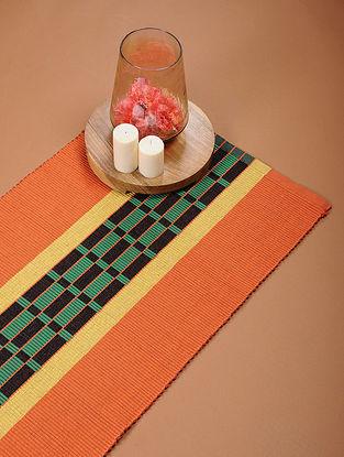 Orange Handloom Cotton Rug (4ft x 1ft 8in)