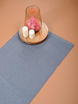Grey Handloom Cotton Rug