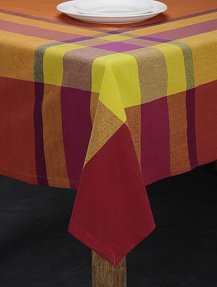 Orange and Yellow Cotton Table Cover