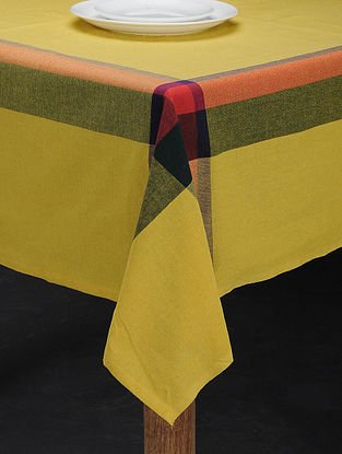Yellow and Green Cotton Table Cover