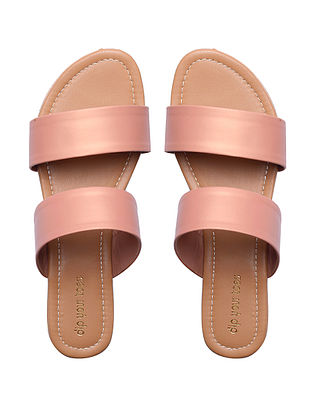 Rose Gold Handcrafted Faux Leather Flats