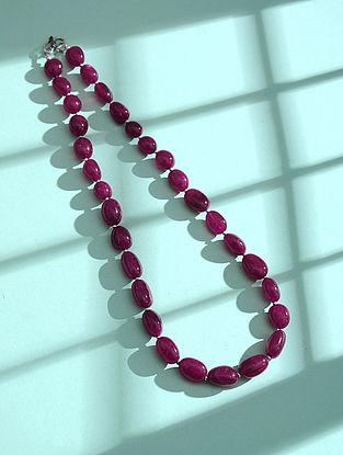 Purple Onyx Beaded Necklace