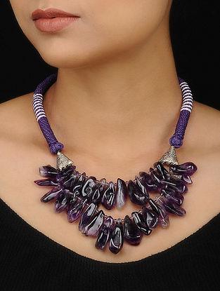 Purple Amethyst Beaded Necklace