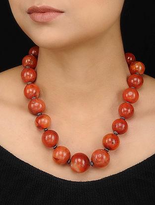 Orange Carnelian Beaded Necklace