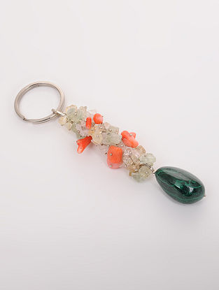 Multicolored Multistone Key Chain
