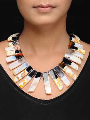 Yellow-Black Jade Necklace