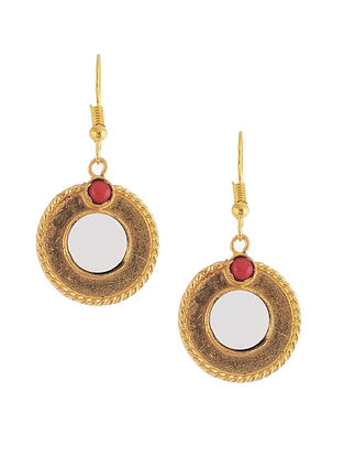 Red-Gold Plated Brass Earring