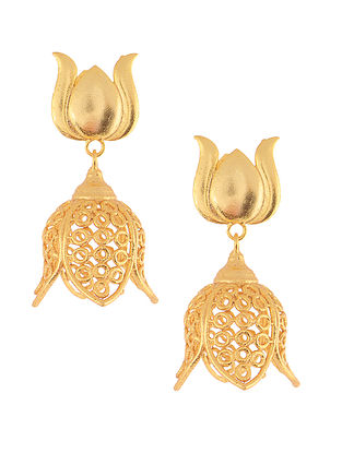 Classic Gold Plated Brass Jhumkis