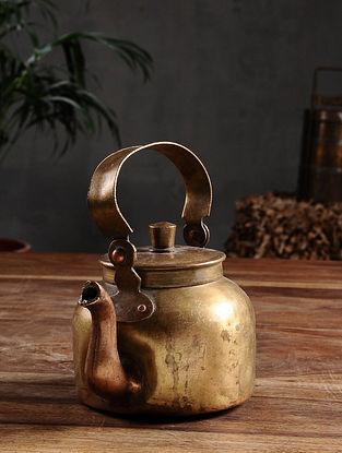 Vintage Brass Tea Pot (Dia - 4.6in, H - 4in)