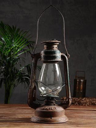 Vintage Iron Lantern (L - 5.2in, W - 5.2in, H - 12in)