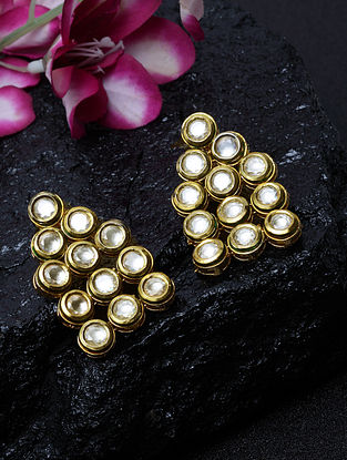 Gold Plated Kundan Earrings