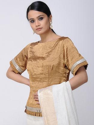 Beige Silk Tissue Blouse