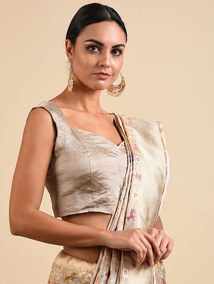 Silver Benarasi Tissue Blouse