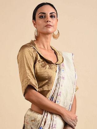 Bronze Benarasi Tissue Blouse