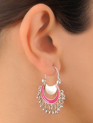 Pair of Classic Halfmoon Silver Earrings