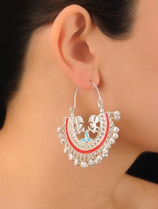 Pair of Peacock Silver Earrings
