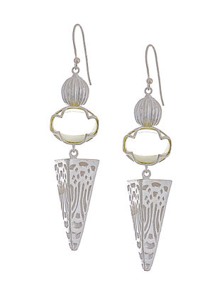 Lemon Quartz Silver Earrings