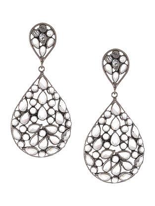 Classic Crystal Cut Silver Earrings