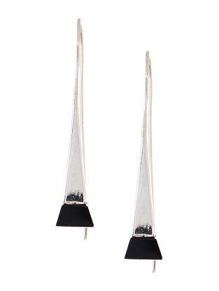 Classic Black-Onyx Silver Earrings