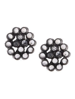 Crystal Silver Earrings