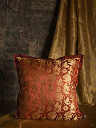 Chimera Red Silk Cushion Cover (20in x 20in)