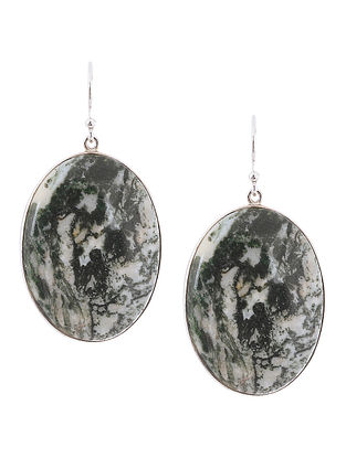 Tree Agate Silver Earrings
