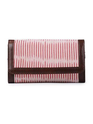 Pink-Ivory Ikat Cotton Wallet