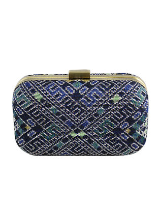 Multicolored Hand Woven Khadi Clutch