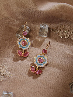 Multicolored Gold Tone Handcrafted Earrings