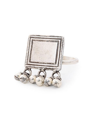 Tribal Silver Ring (Ring Size-6)