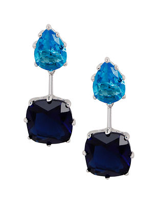 Blue Silver Earrings