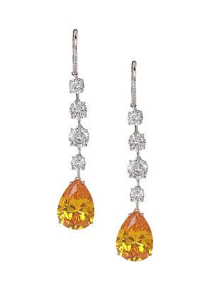 Yellow Silver Earrings