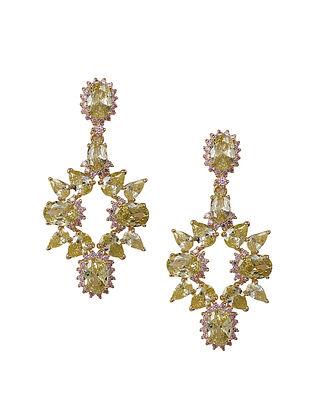 Silver Earrings with Peridot