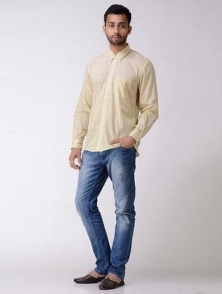 Beige Full Sleeve Cotton Khadi Shirt