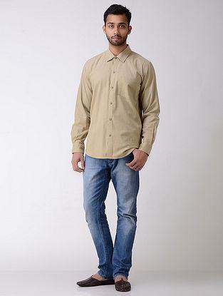 Brown Full Sleeve Cotton Khadi Shirt