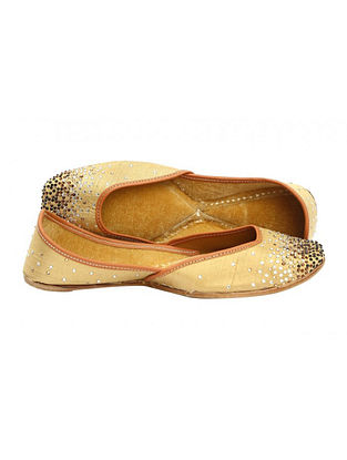 Gold Handcrafted Leather Jutti