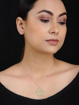 Gold Tone Handcrafted Pendant with Chain