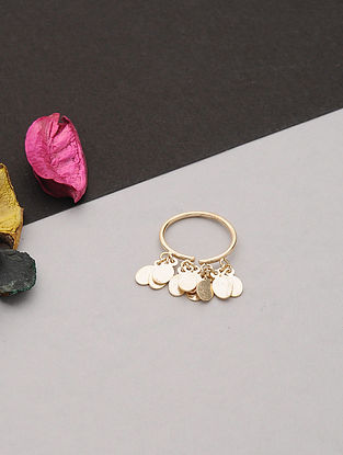 Gold Tone Handcrafted Ring (Ring Size: 6.2)